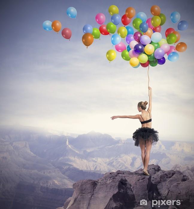 Pixerstick Sticker Danser met ballonnen - Thema's
