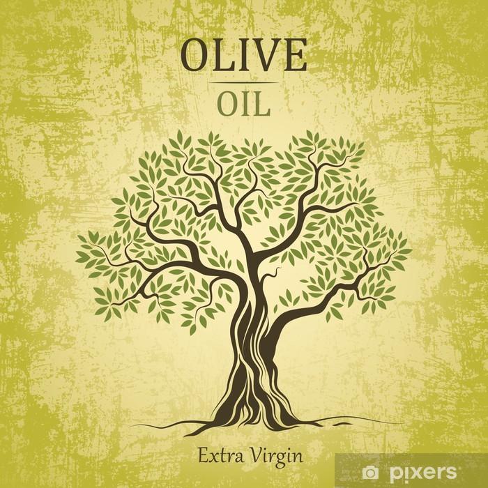 Papier peint vinyle Olivier. Olive oil.Vector olivier. Pour les étiquettes, emballer. - Olives