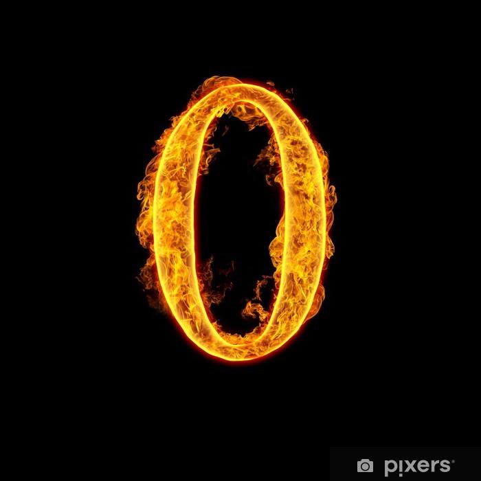 Fototapete Feuer Alphabet Zahl 0 Null Pixers Wir Leben Um Zu Verändern