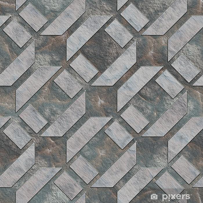 Vinyl Fotobehang Naadloos steen patroon. - Achtergrond