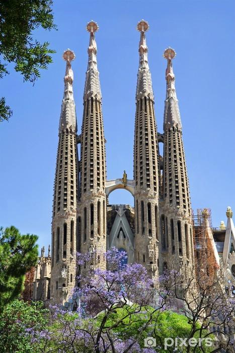 Sagrada Familia. Barcelona, Spain. Pixerstick Sticker - Themes