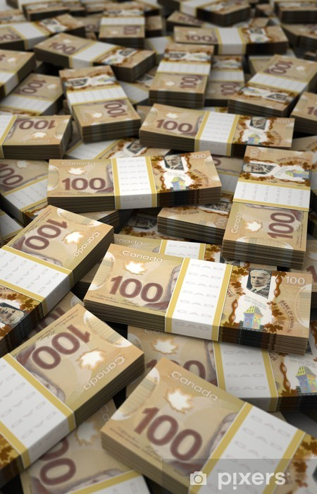 Kanada Doları Yığını Duvar Resmi Pixers Haydi Dünyanızı