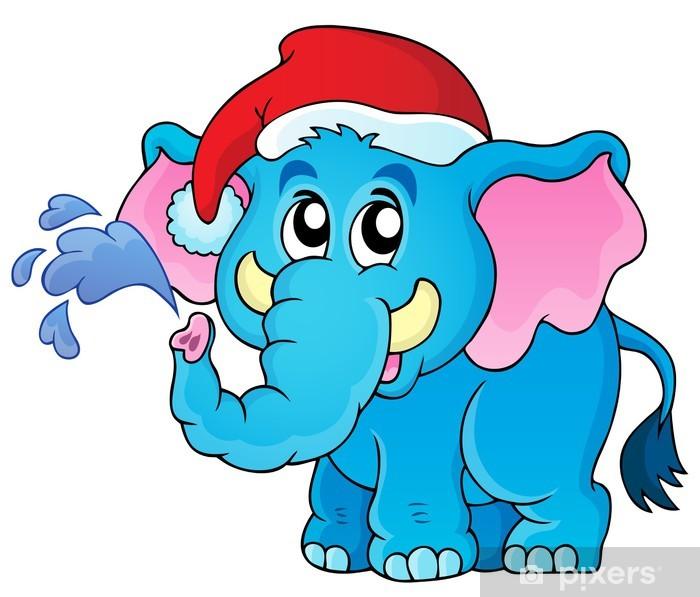 Sticker Pixerstick Image Christmas thème des animaux 2 - Fêtes internationales