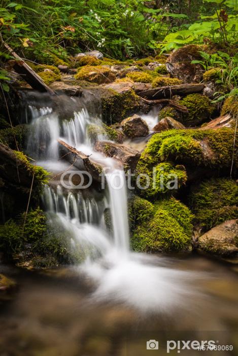 Vinyl-Fototapete Kleinen Wasserfall - Wasser