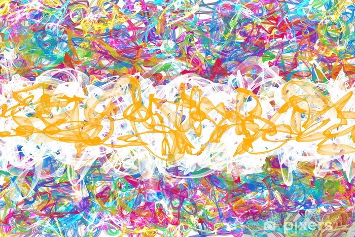 Sticker Pixerstick Graffiti abstrait - Art et création