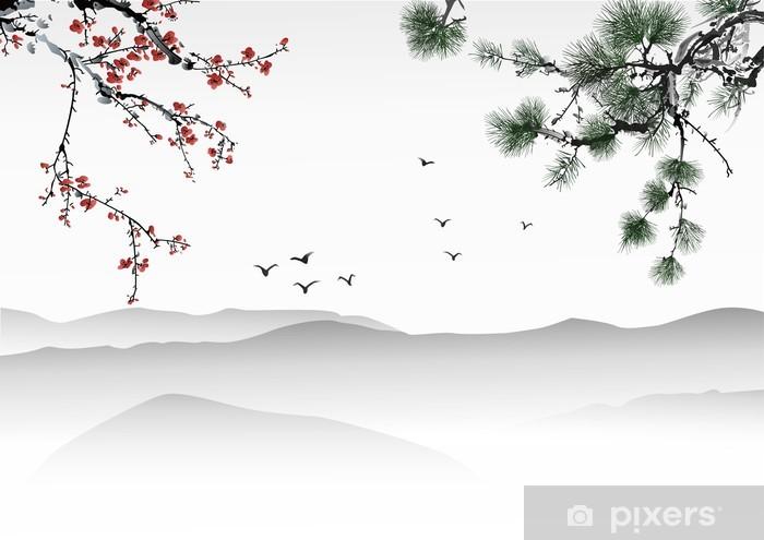 Naklejka Pixerstick Chińskich malowanie - Tematy