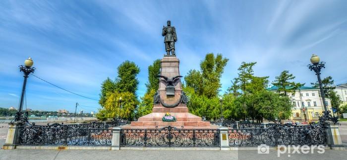 Naklejka Pixerstick Pomnik cesarza Aleksandra III w Irkucku Rosji - Azja