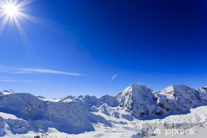 Fototapete Winter In Den Bergen Schneebedeckten Gipfeln Der Alpen