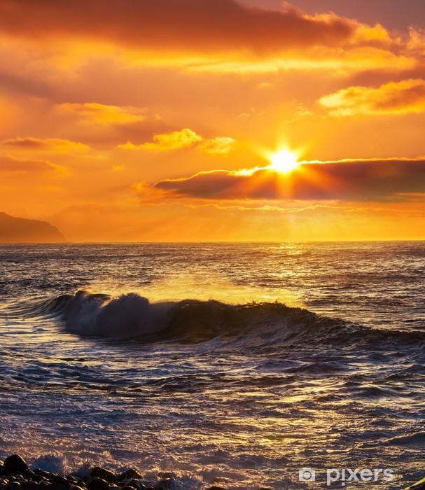 Vinilo para Nevera Sea sunset -