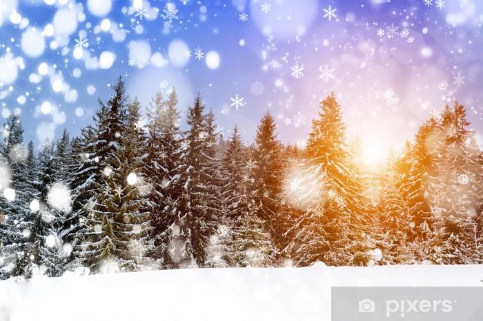 Fototapeta winylowa Piękny zimowy las - Pory roku