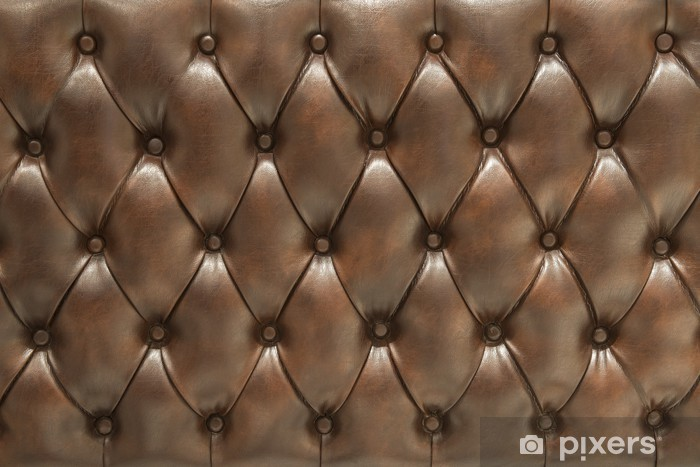 Pixerstick Sticker Bekleed gewatteerde bruine lederen oppervlak - Succes en Prestatie