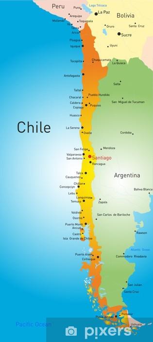 Fotomural Estándar Chile país - Temas