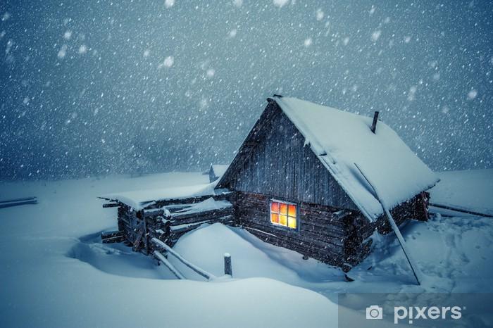 Fototapeta zmywalna Dom - Zima