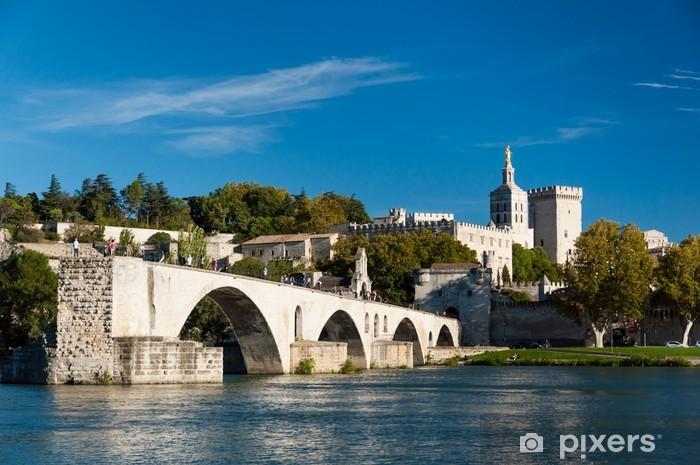 Naklejka Pixerstick Awinion na Pont du Rhone rzeki i starego miasta - Europa