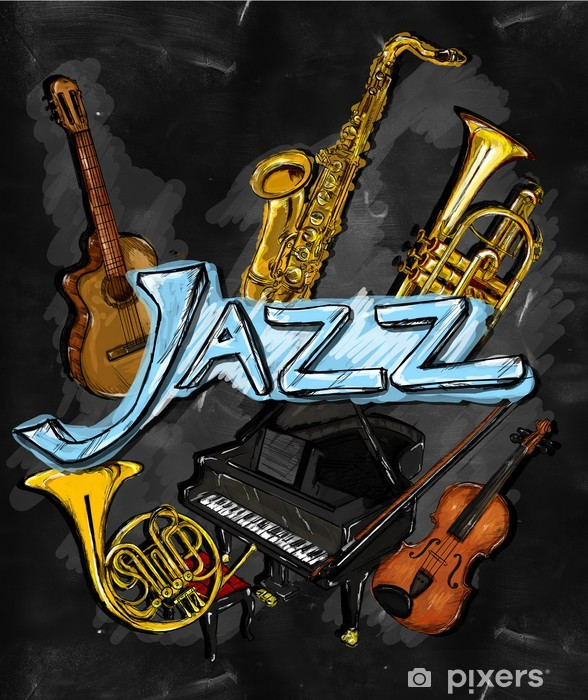 Pixerstick Sticker Jazz Schilderen Instrument - jazz