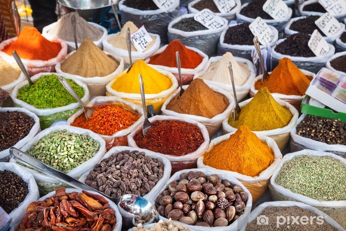 Fototapet Indiska Fargglada Kryddor Pixers Vi Lever For Forandring