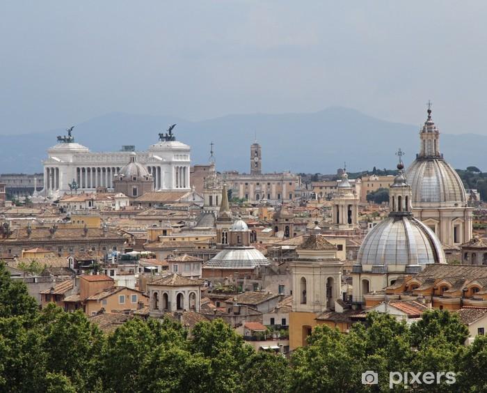 Nálepka Pixerstick Panorama města Řím vidět z Castel San Angelo s al - Témata