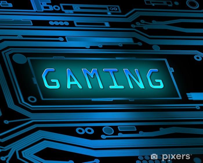 Pixerstick Aufkleber Gaming-Konzept. -