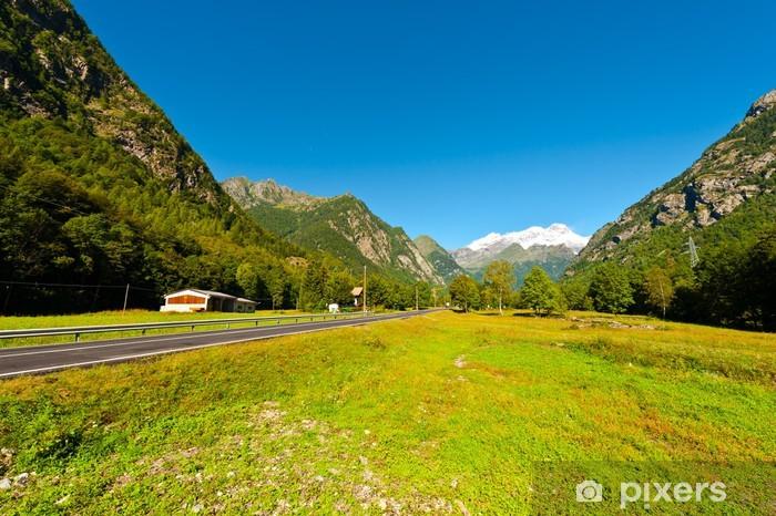 Vinil Duvar Resmi Alplerin doruklarına - Mevsimler