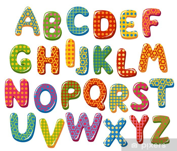 Carta Da Parati Lettere Alfabeto.Carta Da Parati Lettere Alfabeto Colorato Pixers Viviamo Per
