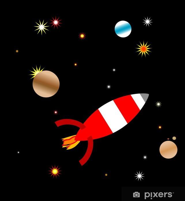 Papier peint vinyle Space ship - Espace
