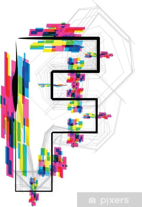 Fototapeta winylowa Ilustracja czcionki. LIST F. ilustracji wektorowych - Inne uczucia