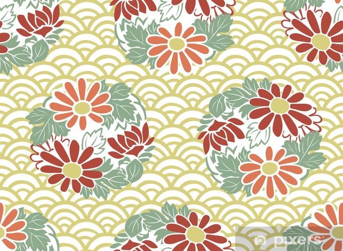 Papier Peint Motif Floral Japonais Sans Soudure Pixers Nous