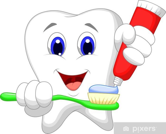 Adesivo Pixerstick Dente mettere dentifricio per il suo spazzolino - Altri oggetti