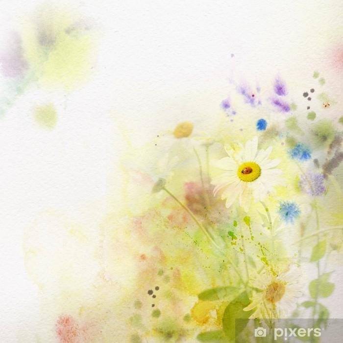 Papier peint vinyle Fond d'aquarelle - Thèmes