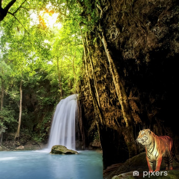 Tiger in the jungle Pixerstick Sticker - Themes