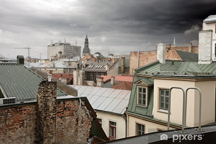 Fotomural Estándar Viejos tejados Riga, Letonia - Praga