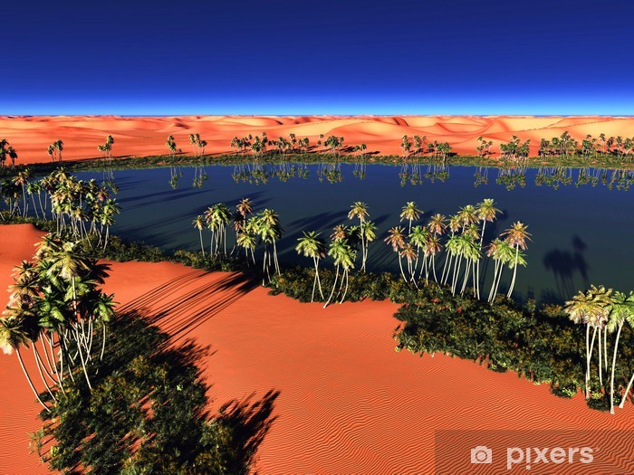 Beautiful Natural Background African Oasis Wall Mural Pixers