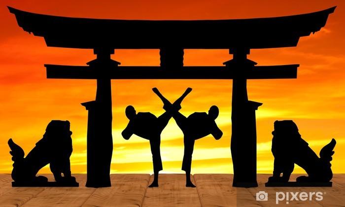Torii Sun Statue Pixerstick Sticker - Themes