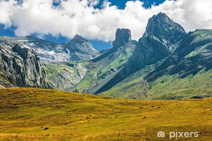 Pixerstick Aufkleber Französisch Pyrenäen Reihe von Gipfeln - iStaging