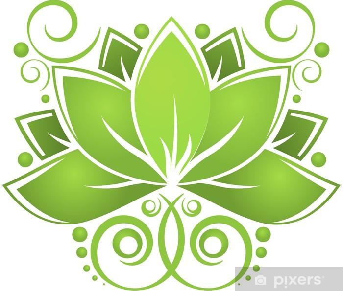 Papier peint vinyle Lotos verts - Fleurs