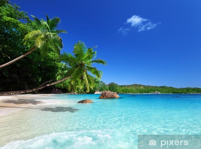 beach at Praslin island, Seychelles Pixerstick Sticker - Themes