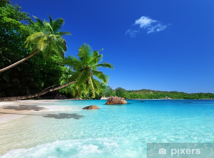 Vinilo Pixerstick Playa en la isla de Praslin, Seychelles - Temas