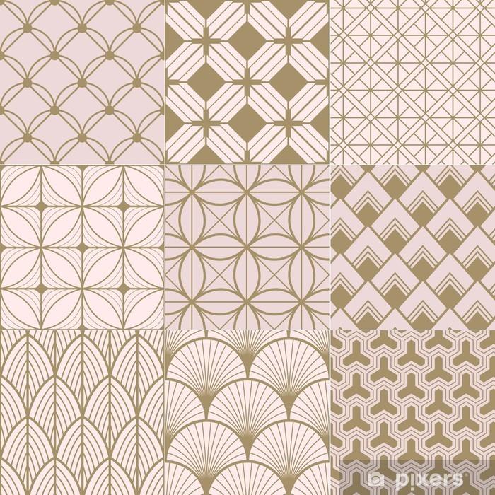Papier Peint Or Transparente Et Geometrique Rose Pixers Nous