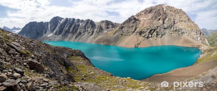 Naklejka Pixerstick Panoramiczny widok na jezioro Ala-Kul w Kirgistanie - Azja
