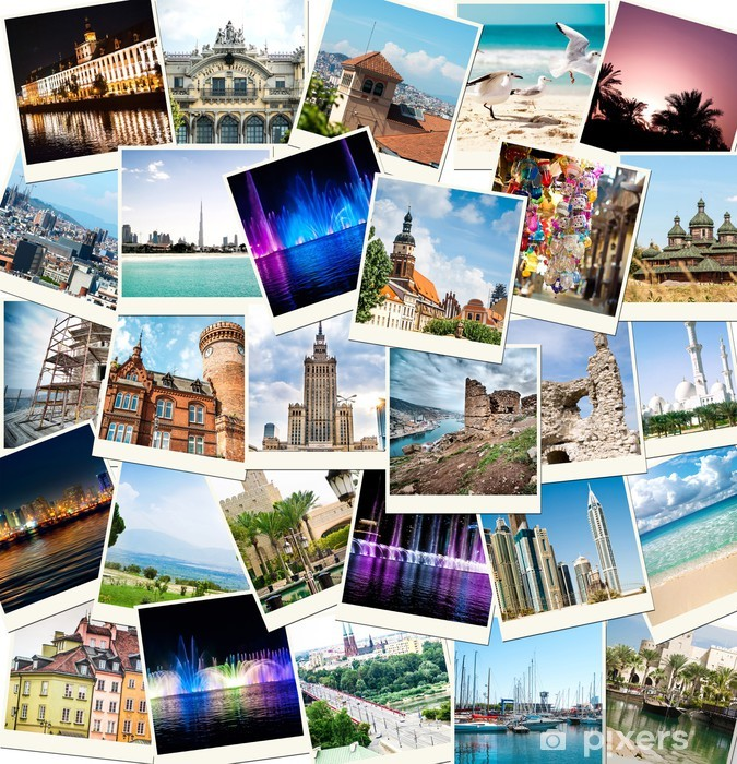 photos from travels to different countries Pixerstick Sticker - iStaging