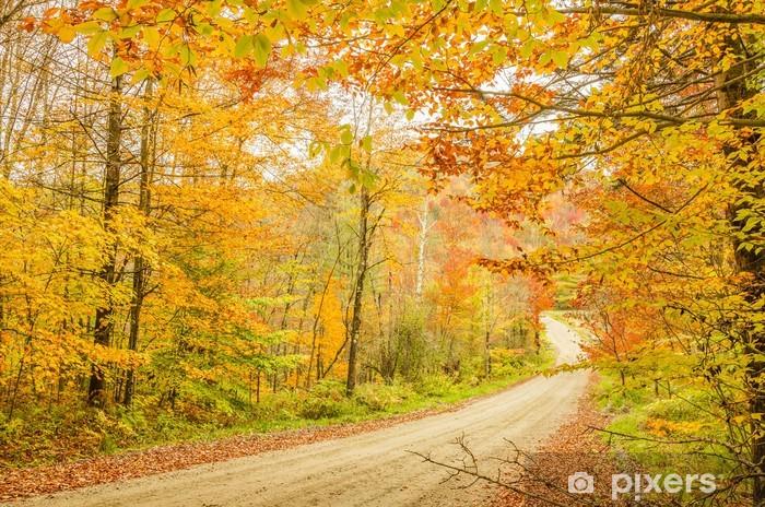 Sticker Pixerstick Route de campagne en automne - Saisons