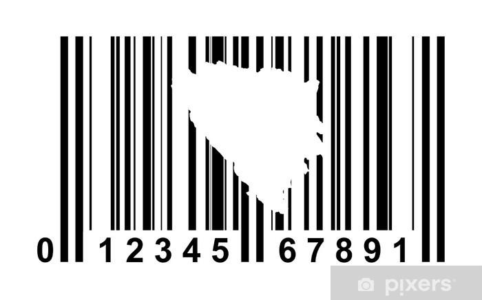 Vinyl-Fototapete Bosnien und Herzegowina Barcode - Zeichen und Symbole