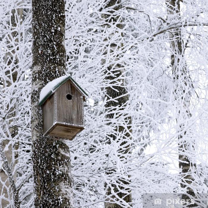 Poster Birdhouse à l'hiver - Saisons