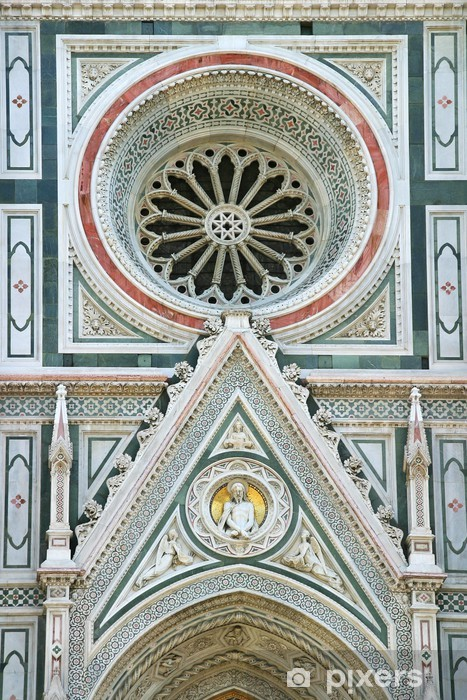 Vinyl-Fototapete Detail der Kathedrale in Florenz - Europa