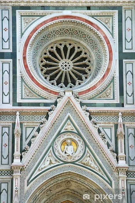 Fototapeta winylowa Szczegółowo katedry we Florencji - Europa