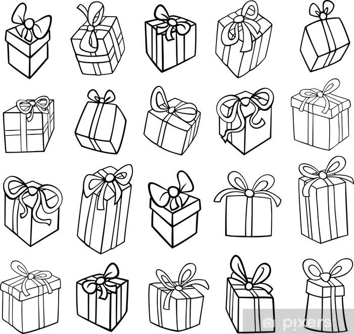Fototapete Weihnachten Oder Geburtstag Geschenke Ausmalbilder