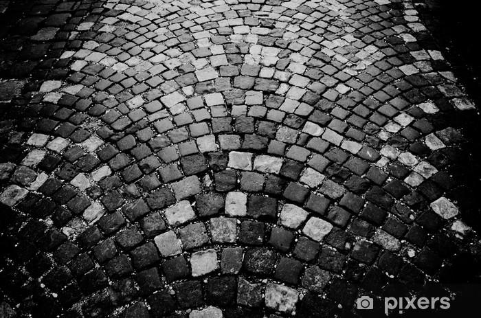 Sticker Pixerstick Pavée d'humeur en noir et blanc - Europe
