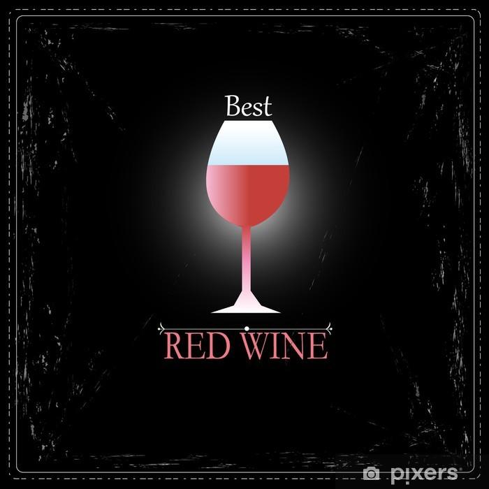Fototapeta winylowa Kieliszek wina znak - Alkohol