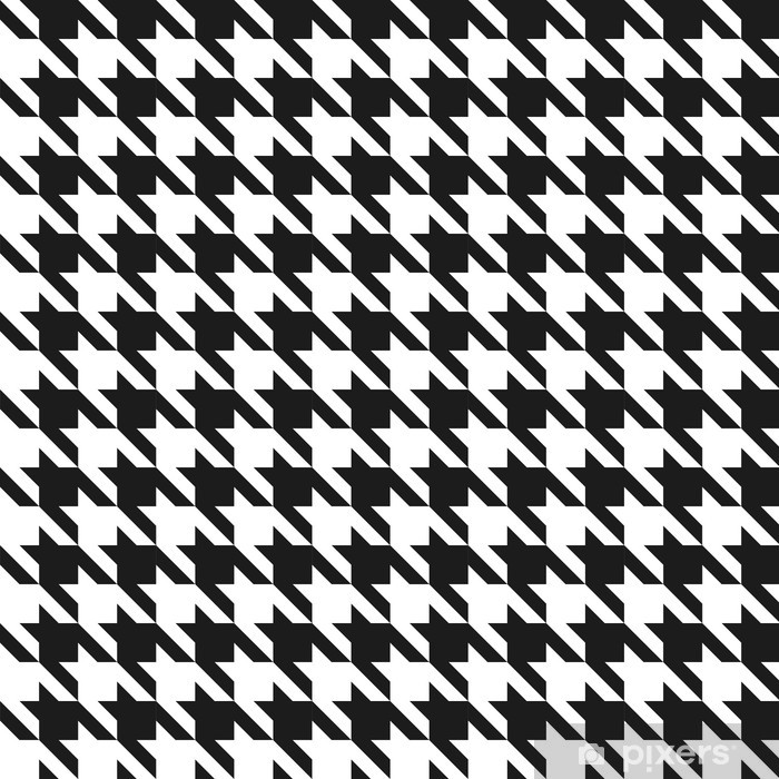 Seamless black and white houndstoothpattern. Vinyl Wall Mural - Backgrounds
