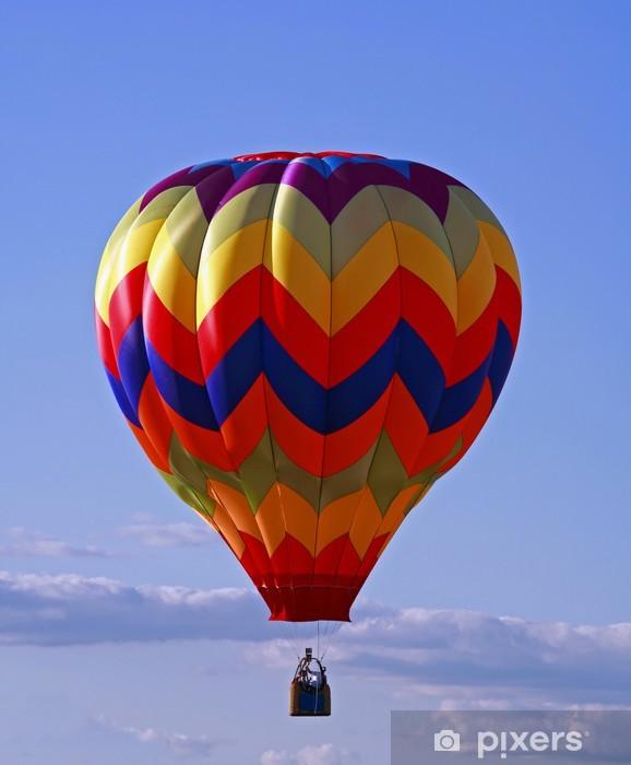 Sticker Pixerstick Ballon air chaud - Dans les airs